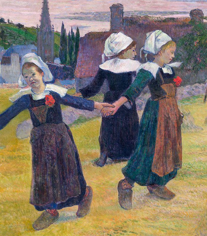 Paul Gauguin, La ronde des petites bretonnes  http://casaprints.com/fr/reproductions-de-tableaux-de-paul-gauguin/1858-filles-bretonnes-dansant-pont-aven.html
