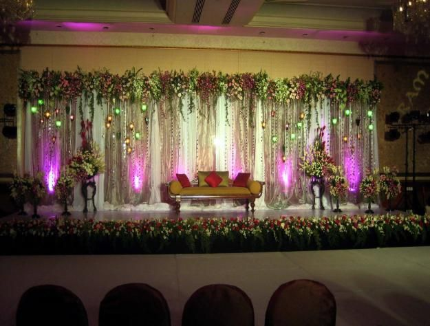 Best 25 pakistani wedding stage ideas on pinterest for Background stage decoration