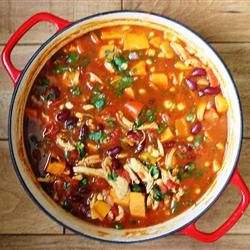 Spicy Chicken and Sweet Potato Stew - amazing flavor combination!
