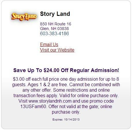 Storyland coupons