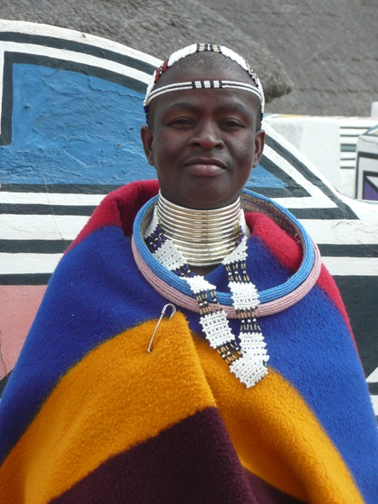 African Fabric - A Ndebele woman