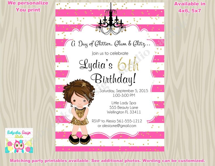 27 best images about Spa Party – Diva Party Invitations