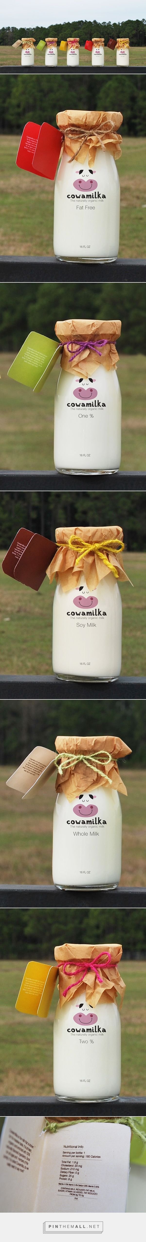 Cowamilka on Behance by Jamila Refky curated by Packaging Diva PD. The cutest milk designs for the packaging smile file : )