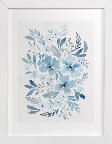 Chinoiserie Floral in Prussian Blue by Natalie Malan at minted.com