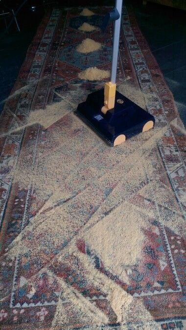 Rug cleaning, step 3.
