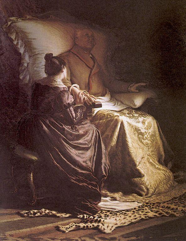 Angelo Morbelli - Goethe morente