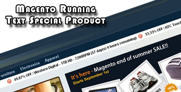 Magento Running Text Special Product (Magento Extensions)
