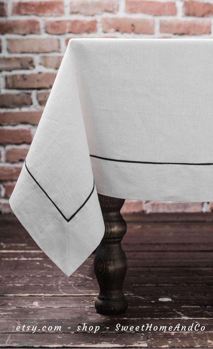 Linen Tablecloth Ideas Dining Rooms Tablecloths Table Runners Table Cloths White Table Dining Room Tablecloth Spring Table Decor Dining Room Table Decor