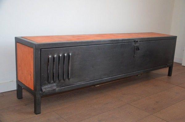 17 best ideas about meuble tv bois metal on pinterest for Console meuble bois
