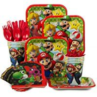 Super Mario Bros. Birthday Party Supplies Tableware Kit
