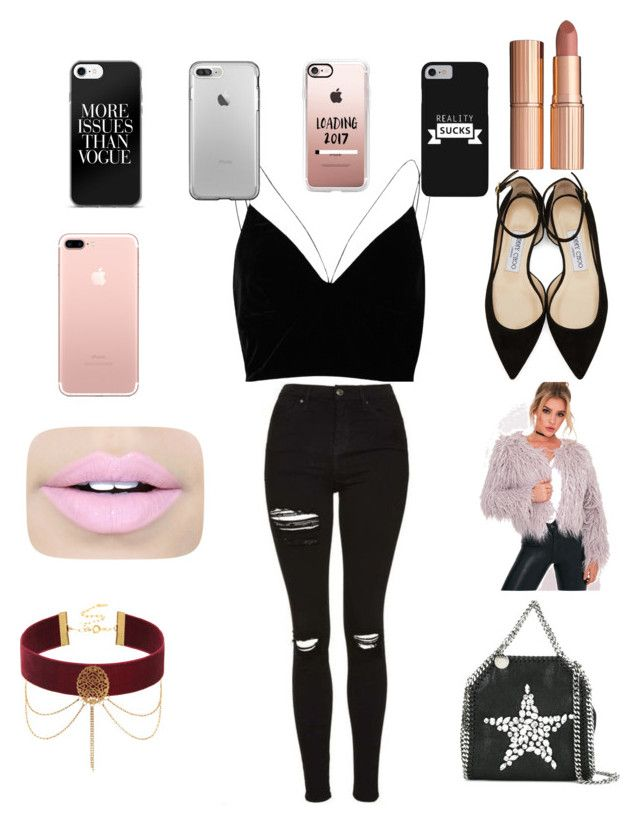 """Untitled #7"" by ellahbug on Polyvore featuring River Island, STELLA McCARTNEY, Jimmy Choo, Charlotte Tilbury, Fiebiger and Casetify"