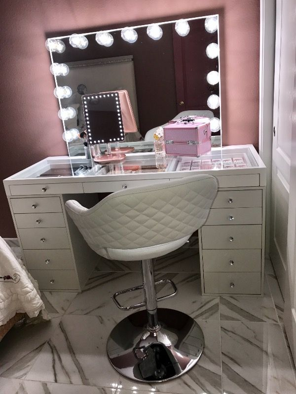 Slaystation 5 Drawer Makeup Vanity Storage Unit Impressions Vanity Co Bedroom Makeup Vanity Beauty Room Vanity Makeup Vanity Storage