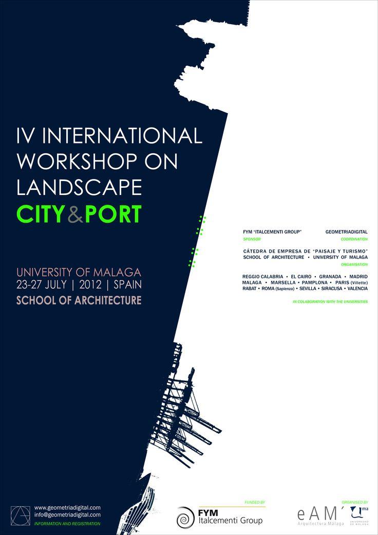 Cartel del IV Taller Internacional de Paisaje