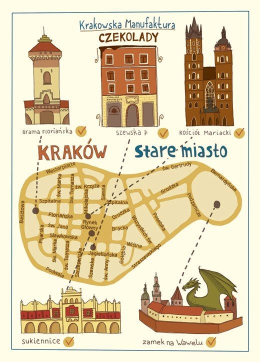 Cracow' map