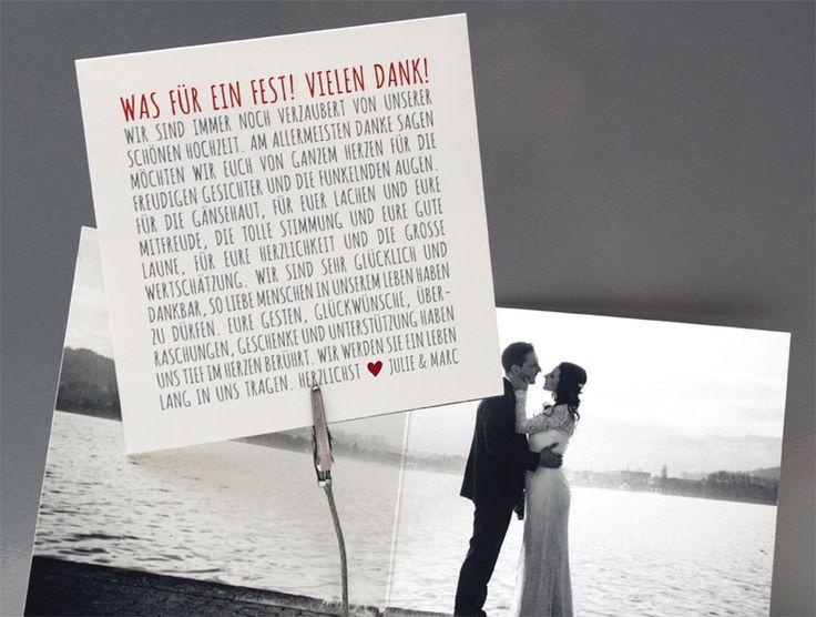 Einladungskarten – Danksagungskarte Hochzeit – ein Designerstück von zelka bei …