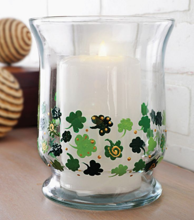 Create this lovely shamrock candle globe! #Howto can be found at JoAnn.com.