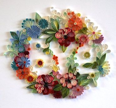 The beautiful artwork of Yulia Brodskaya.Paper Quilling, Crafts Ideas, Paper Wreaths, Paper Flower, Paper Art, Paperart, Floral Wreaths, Paper Crafts, Design