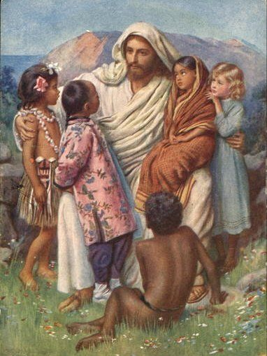 Care for orphans because children are precious in his sight. sherripage:  Harold Copping, The Hope of the World, 1915