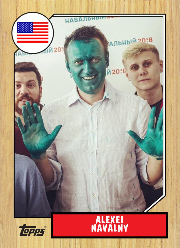 Russian opposition leader Alexei Navalny doused in green ...