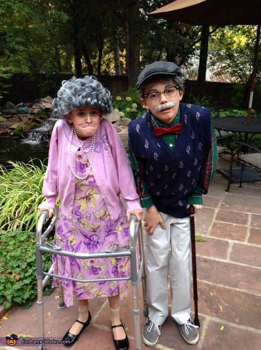 Jennifer: Ben and Peyton (both 10 years old). Best friends who came up with this idea together. Peyton has a thrift store outfit and padding underneath her dress, a granny wig,...