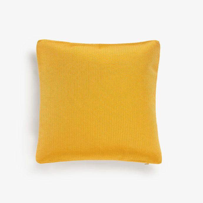 Ocre-coloured jacquard cushion cover -  | Zara Home United Kingdom