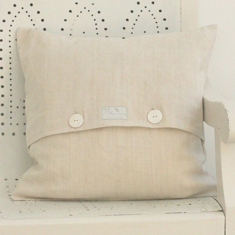 Use antique linen to make pillow covers...lovely.