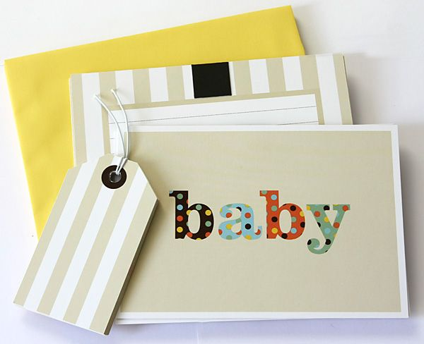 10 Baby Shower Invites with Magnets, 10 Coloured Envelopes, 10 Party Bag Tags - included in Baby Shower Party Pack $115.00 www.strawberry-fizz.com.au