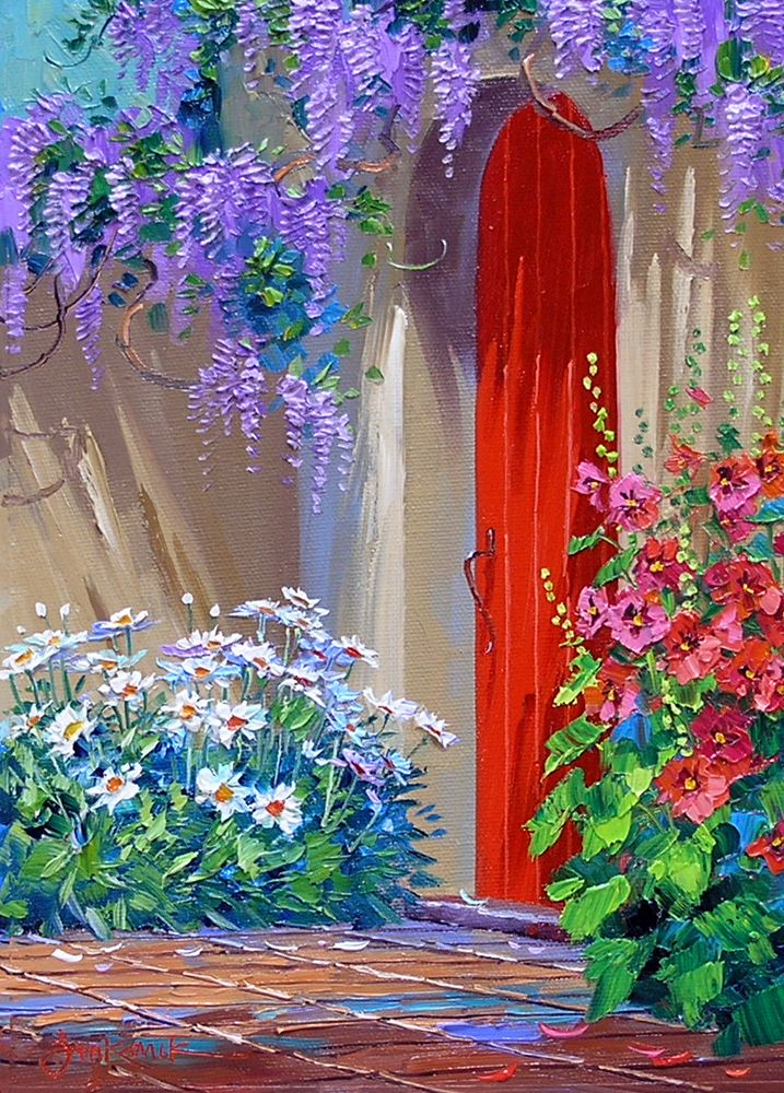 MIKKI SENKARIK....an illustrator...illustrated 47 major medical books....her transitional art spans the bridge between modern and realism....known for her Mediterranean and Tuscany landscapes and seascapes....her Santa Fe Style landscapes or Caribbean seascapes stand out