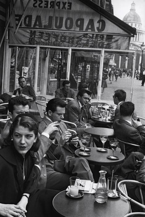 Paris 1954, vers la Coupole.
