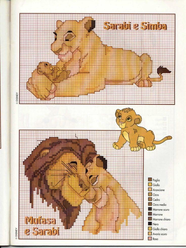 Sarabi Simba e Mufasa de O Rei Leão