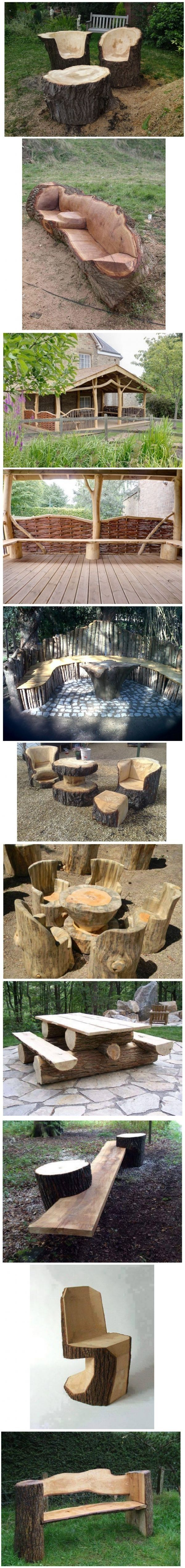 Beautiful Rustic Pieces of Furniture for the House or Garden | WoodworkerZ.com