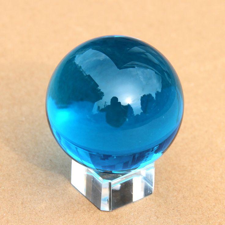 50mm Aquamarine de Cristal de Cuarzo Esfera Bola 50mm + Soporte Crysal Regalo de Boda Decoración Del Hogar