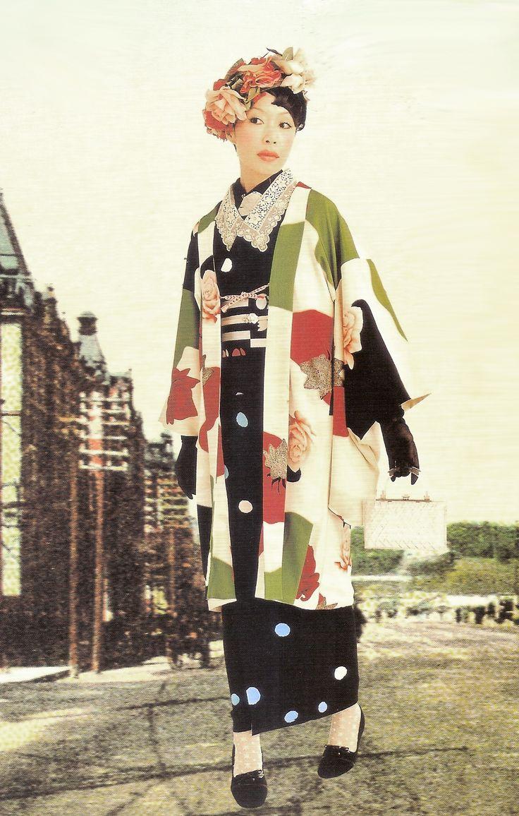 Kimono-hime issue 4. Fashion shoot page 5. Via Satomi Grim of Flickr