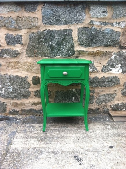 Emerald Green Nightstand = Antibes green. Would look great with navy either over or under the green