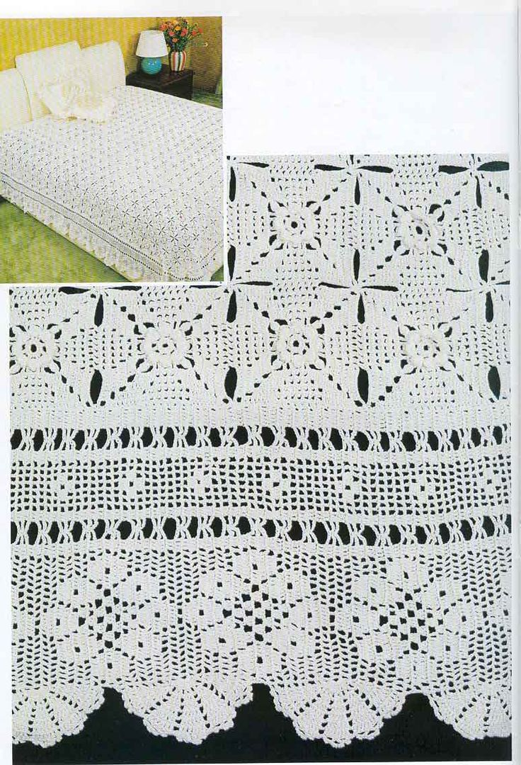 17 Best Images About ༺ ༻crochet Knitting Bedspread༺ ༻ On