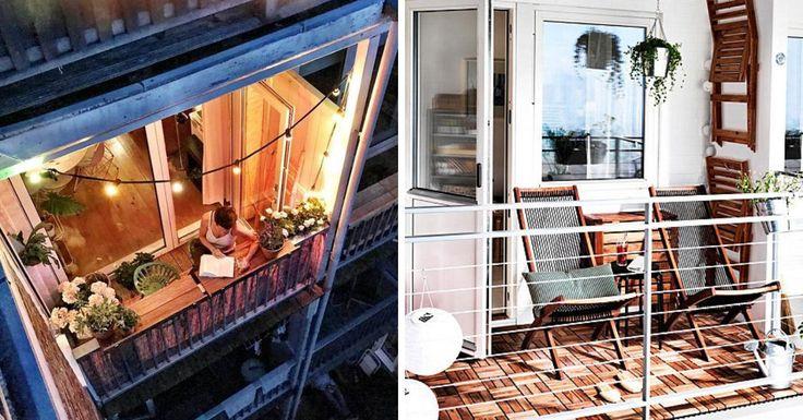 101 id es d co am nagement pour un petit balcon balcon. Black Bedroom Furniture Sets. Home Design Ideas