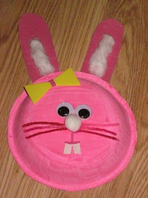 Sweet Bunny Rabbit Kids Craft: Easter & Spring Crafts for Kids Project #65