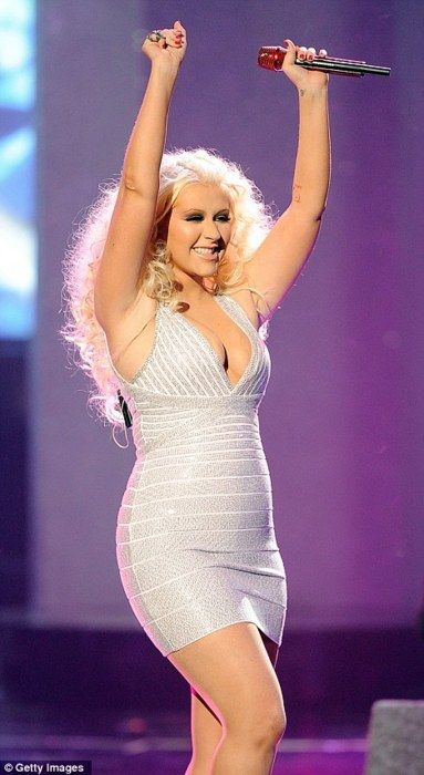Christina Aguilera....if she only knew how stunning she is at this size!