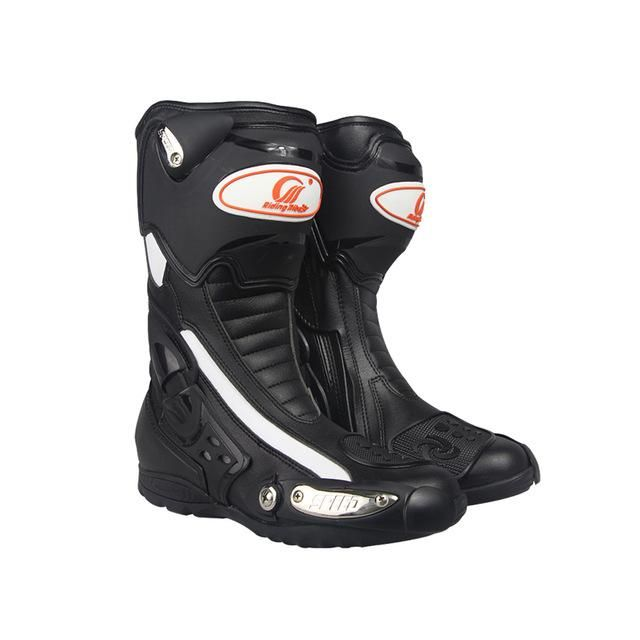 Riding Tribe Mens Motorcycle Riding Long Boots Outdoor Knight Riding Boots Shoes Motorcycle Anti Fall Boots Asian 40-45 Sizes