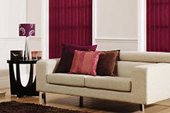Warm up your home with a lovely deep purple vertical blind