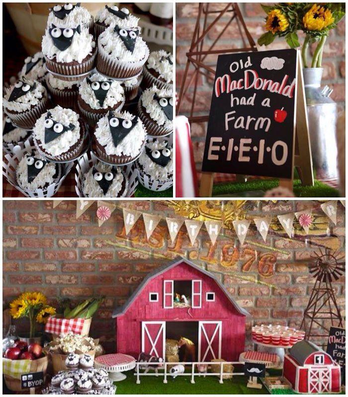 Best 9 Farm Fresh 1st Birthday Images On Pinterest Farm Birthday