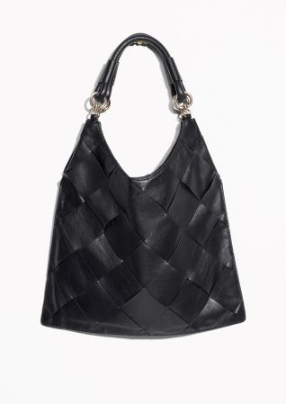 & Other Stories image 2 of Braided Leather Tote in Black