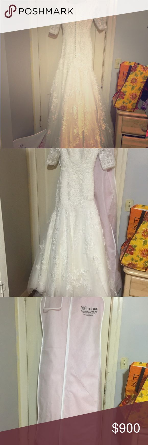 Brand new lace modest Allure ivory wedding dress Brand new never worn! Beautiful modest lace ivory wedding dress. Allure Bridals Dresses Wedding