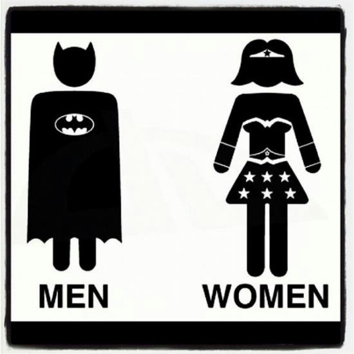 Ive Been Looking For A Bathroom SignBatman And WonderWoman Toilet By LucaGiorgi On DeviantART