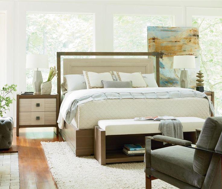 City Mid Century Modern Queen Bed
