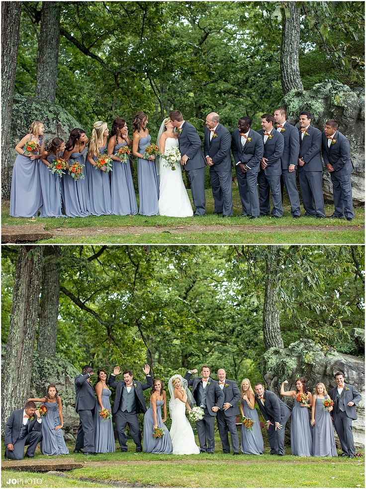 Large Wedding Party Chattanooga Fairyland Club Lookout Mtn Grey Blue