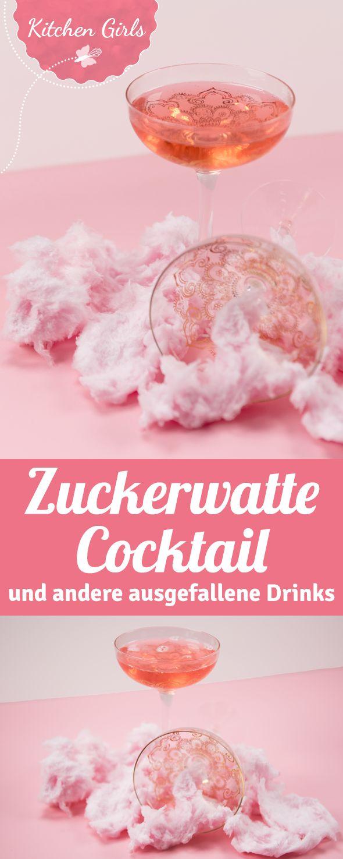 Cotton Candy Champagne - wir sagen dir welcher Sekt, Prosecco oder Champagner geeignet ist und was es beim Servieren von einem Cocktail mit Zuckerwatte zu beachten gibt. Noch mehr ausgefallene Cocktails für den Mädelsabend oder die Party findest du hier auch.