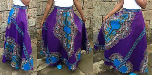 African-print-skirt-Dashiki-maxi-skirt