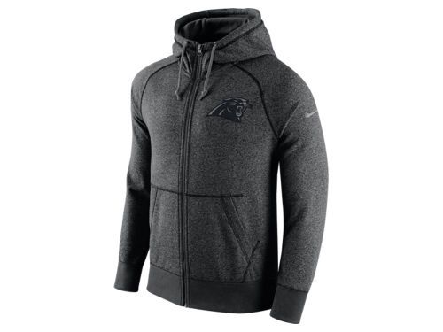 Carolina Panthers Nike NFL Men's Gridiron Grey Full Zip Hoodie