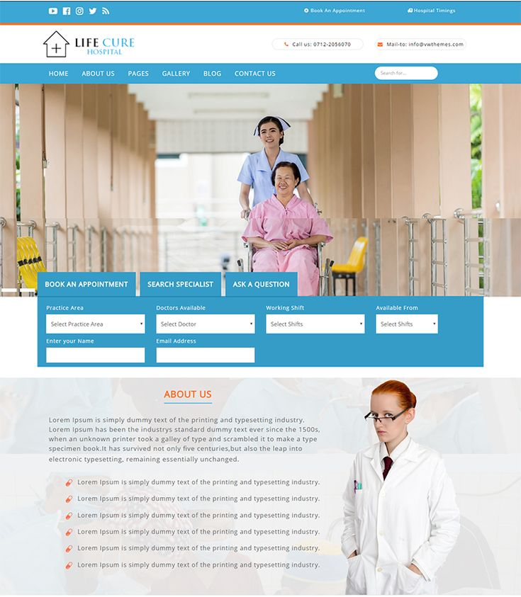 8 best free wordpress business themes images on pinterest life cure mobile friendly free hospital wordpress theme friedricerecipe Choice Image